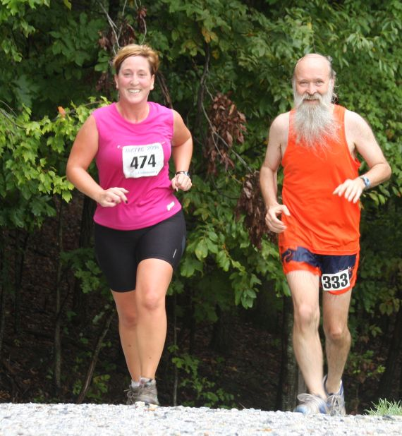 Caren Jew and Mark Zimmermann at the 2008 MCRRC Lake Needwood 8k XC