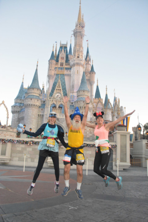 Dawn Patrol jumps at the Magic Castle in Disney World