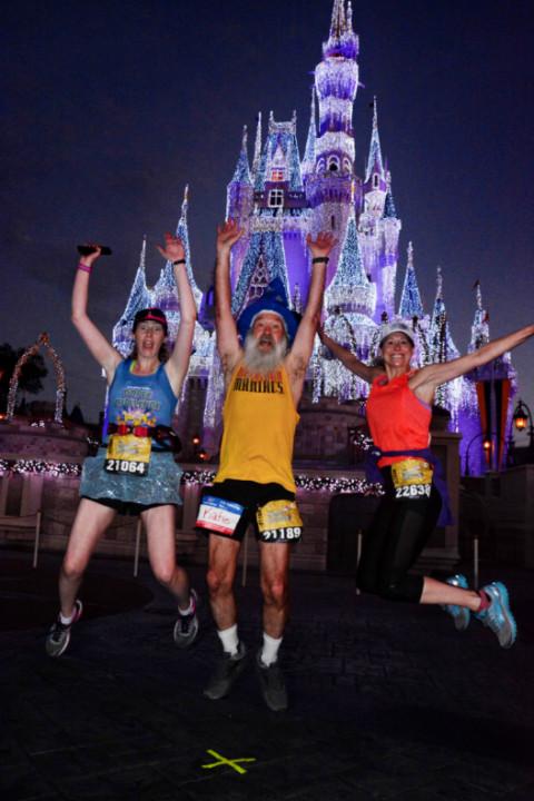 Disney Dopey Marathon magic castle Dawn Patrol jump