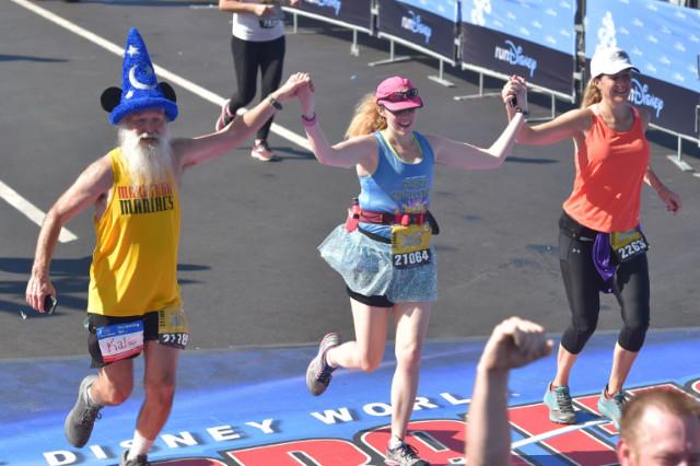 Disney Dopey Marathon Dawn Patrol finishes together