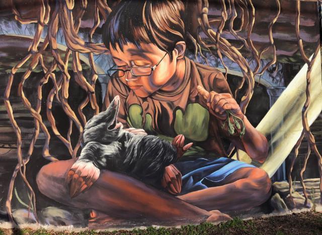 Takoma Park Mole Mural