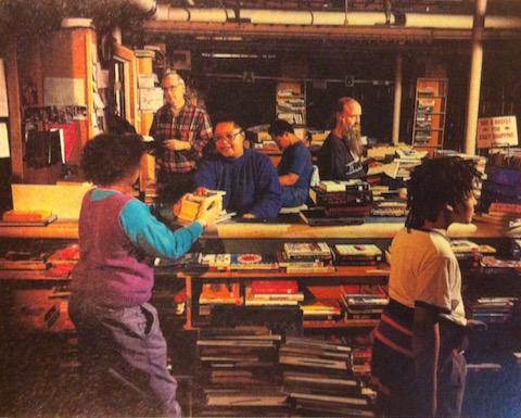 Dickerson Zimmermann Wheaton Library basement book sale