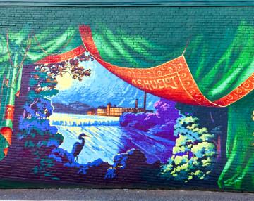 Ashuelot River mural in Keene NH