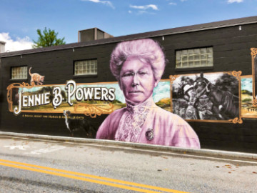 Jennie Powers mural in Keene NH