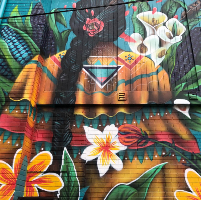 mural on Buena Vida restaurant in Silver Spring