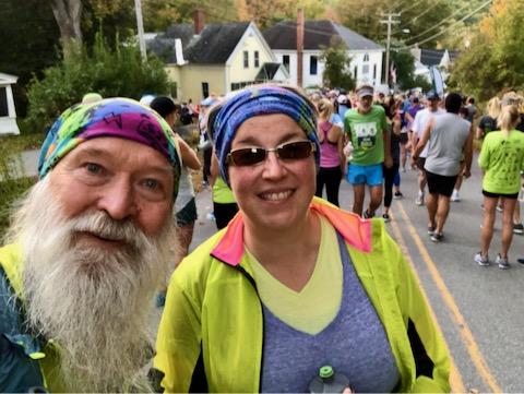 Marathon start in Gilsum NH