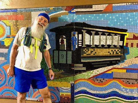 Georgia avenue train mural