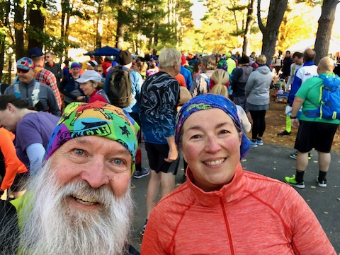 Dr Mary Ewell and Mark Zimmermann before the 2019 Ghost Trail
