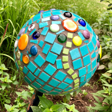 Sligo Creek Trail garden globe