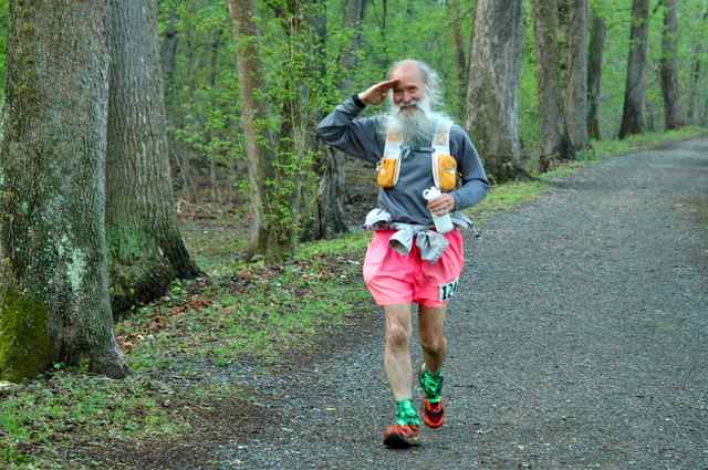 Mark Zimmermann at mile 1.4 C&O Canal 100