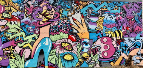 bright DC mural