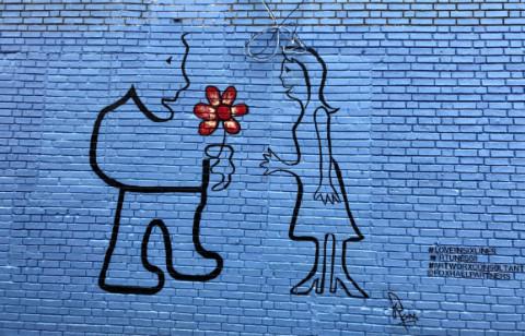 Blue Love mural