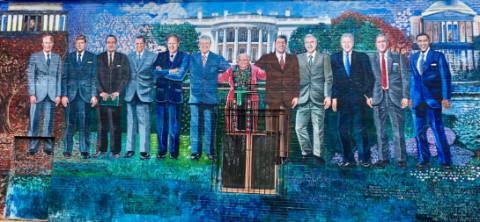 presidents DC restaurant mural