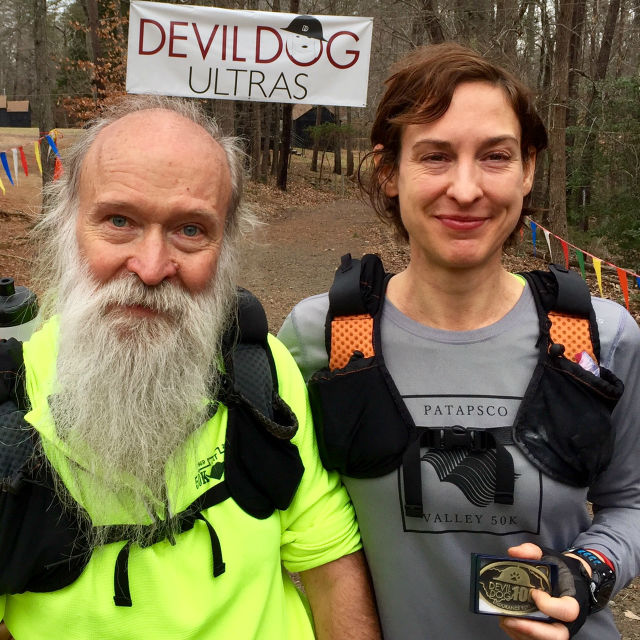 Stephanie Fonda, proud finisher, Devil Dog 100 Miler, 17-18 Dec 2016