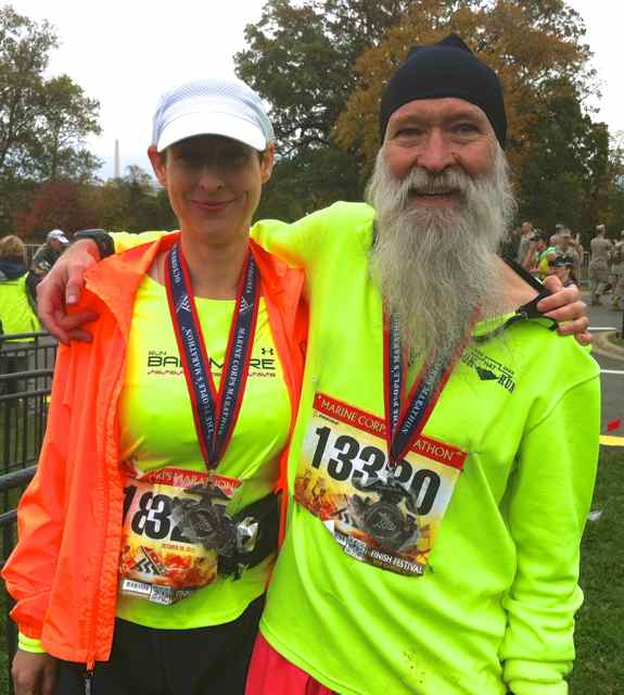 Stephanie Fonda and Mark Zimermann at MCM 2012 finish