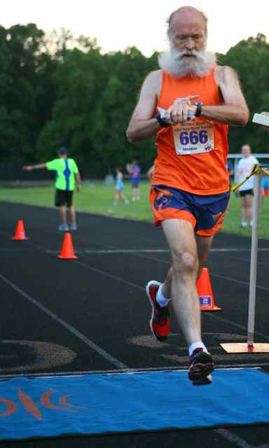 MCRRC Midsummer Night's Mile finish by Mark Zimmermann