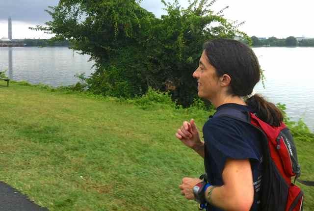 Kate Abbott on the Mount Vernon Trail