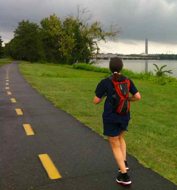 Kate Abbott on the Mount Vernon Trail