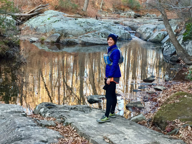 Stephanie Fonda in Prince William Forest Park - 2016-12-03 - click for higher resolution version