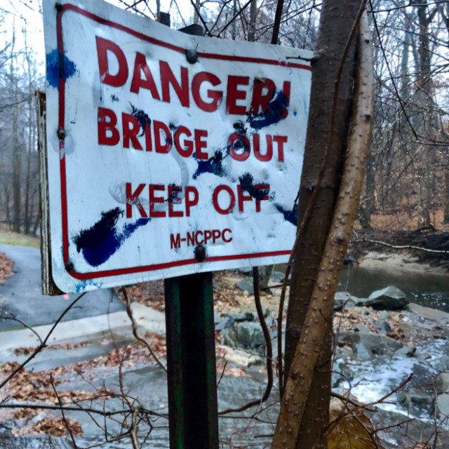 http://zhurnaly.com/images/running/Takoma_Park_Northwest_Branch_bridge_out_sign_2018-12-02_t.jpg