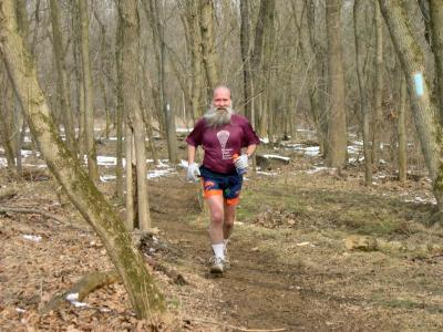 ^z in the woods at Seneca Creek Greenway Trail Marathon 2005