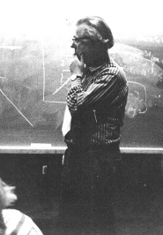 Fred Hoyle at Rice University ~1973 - click for larger image
