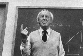 Hannes Alfven at Rice University ~1973 - click for larger image