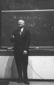 Hans Bethe at Rice University ~1973 - click for larger image